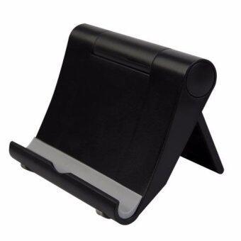แท่นว่าง โทรศัพท์ แสตนด์สำหรับมือถือและแท็บเล็ต Desktop Stand Holder for Smart Phone Samsung iPhone, eReaders, and Up to10 inch Tablets - Black