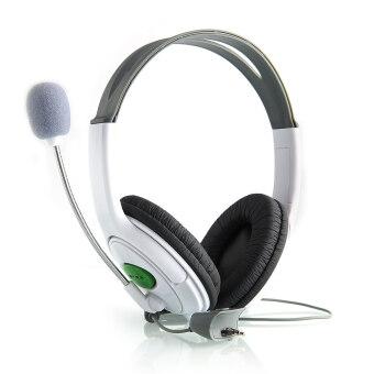 โอไม่มีชุดหูฟังขนาดใหญ่ระบุหูโทรศัพท์ พร้อมกับไมโครโฟนสำหรับ XBOX 360 Xbox360 Slim ใหม่ (ขาว)