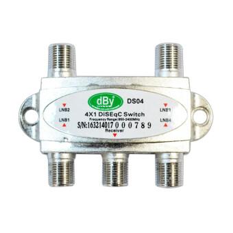 dBy DiSEqC Switch 4x1 เข้า 4 ออก1 รุ่นdBy-41