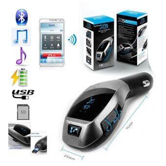 CAR X5 เล่นเพลง,ชาร์ท,รับโทรศัพท์ไร้สาย,Bluetoothเพลงจากมือถือเป็นคลื่นวิทยุ เข้ารถยนต์