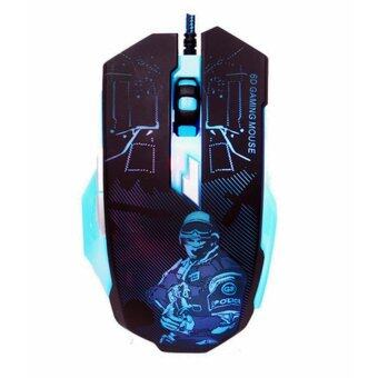 MARVO Gaming Mouse เมาส์เกมส์มิ่ง รุ่น M931 (Black/Blue)