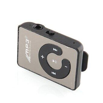 ปุ่มกระจกบนจอ ค, MP3 เล่นคลิปมินิ MP3 เล่นกีฬาฟังเพลง mp3 มีช่องเสียบการ์ดไมโคร ถ้าเขา MP3+ชุดหูฟัง+เคเบิล+กล่องแพคเกจ (สีดำ)
