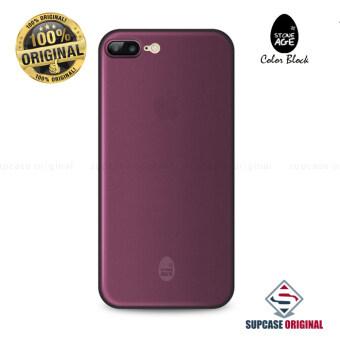 STONE AGE Color Block Collection Slim Fit Case 0.4 mm. ของแท้ สำหรับ iPhone 7 Plus สีม่วง (Solid Purple)
