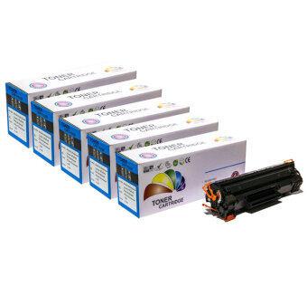HP Color Box ตลับหมึกพิมพ์เลเซอร์ชนิดเทียบเท่า HP LaserJet CE285A (85A) (สีดำ) ( 5 กล่อง )