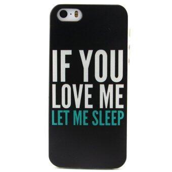 เคส for Apple iPhone 5 5S TPU ซอฟท์ บางเฉียบ Phone Case ข้างหลัง (Words)
