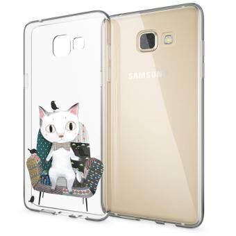 HugCase TPU เคส Samsung Galaxy A9 Proเคสโทรศัพท์พิมพ์ลาย King Cat เนื้อบาง 0.3 mm