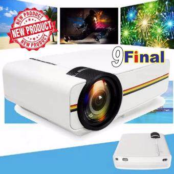 9FINAL โปรเจคเตอร์ Multimedia portable Mini LED Projector home theater รุ่น YG400 - สีขาว
