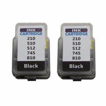 PRITOP Canon MP237/IP2770/MX347/MX357/MX328/MP287/MP497/MP366/MX416/MX426/MP245/MP486/MX338/MP496/MP258 ใช้ตลับหมึกอิงค์เปลี่ยนสำลี รุ่น PG810/PG 810/PG-810/*2 Pack Pritop