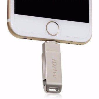 iDrive iDiskk Pro 128GB รุ่นLX-811 USB 2.0 แฟลชไดร์ฟสำรองข้อมูล iPhone,IPad แบบหมุน(Silver)