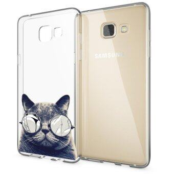 AFTERSHOCK TPU Case Samsung Galaxy A5 2016 (เคสใสพิมพ์ลายBlack Cat) / Thin 0.33 mm
