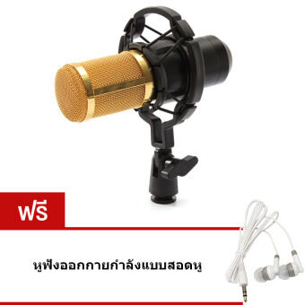 Elit ไมค์ ไมค์อัดเสียง คอนเดนเซอร์ Pro Condenser Mic Microphone BM800 พร้อมอุปกรณ์เสริม แถมฟรี หูฟัง ออกกายกำลังแบบสอดหู