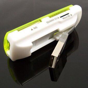 ความเร็วสูง 4ใน1 USB 2.0 อ่านการ์ดหน่วยความจำสำหรับไมโครเอสดี ถ้าเขาบังเอิญ SDHC
