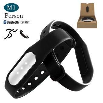 Person นาฬิกาสุขภาพอัจฉริยะ ติดตามกิจกรรม Bluetooth DayDayBand Smart Wristband Watch รุ่น M1 Activity Tracker (Black)