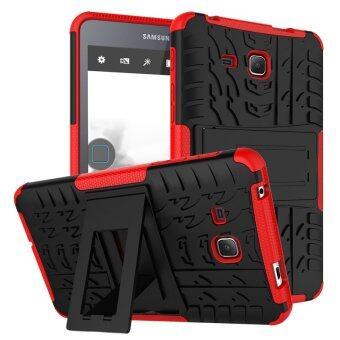 TPU+PC เกราะกำบังเคสไฮบริดสำหรับ Samsung Galaxy Tab A 2016 SM-T280 (สีแดง)