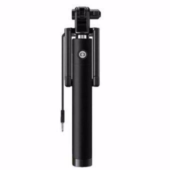 Monopod Selfie Stickไม้เซลฟี่สีดำพร้อมตัวกดถ่ายรูปในตัว(ปุ่มสีดำ)
