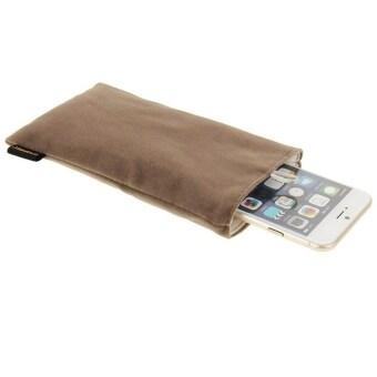 กระเป๋าผ้ากระเป๋า HAWEEL อ่อนนุ่มมีปุ่มไข่มุกสำหรับ iPhone 6 Plus/5.5นิ้วโทรศัพท์มือถือ ขนาด: 18.5ซม x 9ซม (สีเทา)
