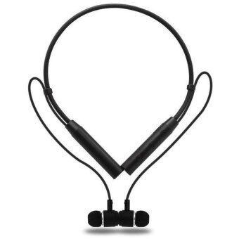 STN-555 รุ่นจับเวลาไร้สาย Bluetooth หูฟังแฮนด์ฟรีกลางแจ้งสปอร์ตแฮนด์ฟรีน้ำหนักเบาและสะดวกสบายมีพลังเสียงเบส (ดำ) - intl