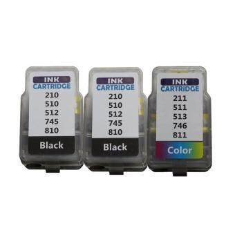 Pritop/Canon ink Cartridge PG-745*2/CL-746*1 ใช้กับปริ้นเตอร์ Canon Inkjet IP2870/MG2570/MG2470