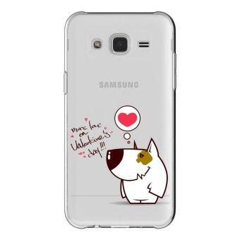 AFTERSHOCK TPU เคส Samsung Galaxy J7 2015 เคสโทรศัพท์พิมพ์ลาย Valentine's 1 เนื้อบาง 0.33 mm