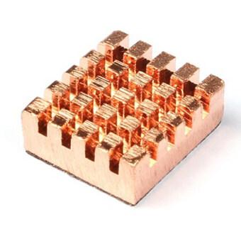 ฮีทซิงค์ระบายความร้อนทองแดงสำหรับ Raspberry Pi เวอร์ชั่น 2.0 รุ่น b+และหน่วยความจำ ram vga แบบเย็น 3ชิ้น