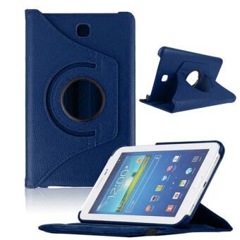 ปู่หมุน 360 รายครอบคลุมสำหรับ Samsung Galaxy Tab3 7นิ้วแท็บเล็ต T210 (น้ำเงิน)