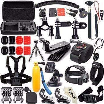 Harga Soft Digits 50 in 1 Action Camera Accessories Kit for GoPro Hero 5 4 3+ 3 2 1 with Carrying Case/Chest Strap/Octopus Tripod - intl
