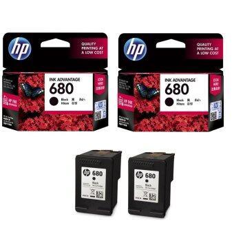 สินค้ายอดนิยม HP 680 (F6V27AA) INK Black สีดำ – 2 ตลับ ขายดี