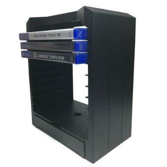 ชั้นวางแผ่น เกมส์ บลูเรย์ PS3 PS4 Xbox One Game Bluray Storage Tower - Black