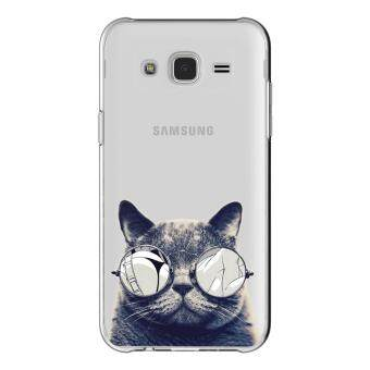 AFTERSHOCK TPU Case Samsung Galaxy J7 2015 (เคสใสพิมพ์ลายBlack Cat) / Thin 0.33 mm