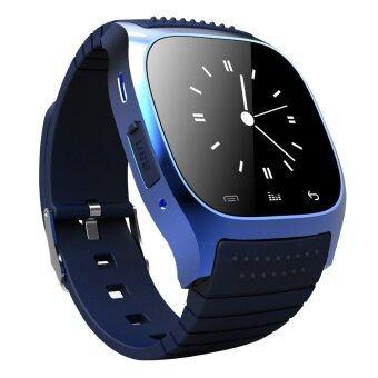 นาฬิกาข้อมือกันน้ำโทรศัพท์เพื่อนฉลาดบลูทูธสำหรับ IOS Android iPhone Samsung (สีน้ำเงิน)