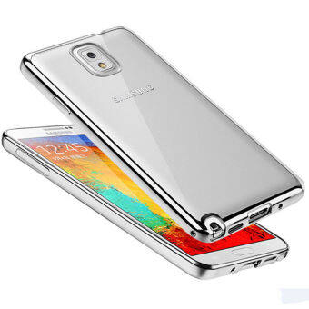 Harga Silicone Case For Samsung Galaxy Note3 /N9009/N9006/N9008 Slim Clear Soft Phone Silicon Cover(Silver)