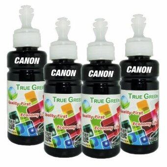 True Green inkjet refill 100ml. CANON all model : BLACK ( ชุด 4 ขวด )