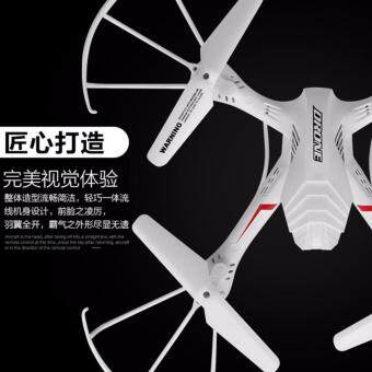 DRONE NEW LED โดรนที่มีระบบบินที่เสถียร นิ่ม บังคับง่าย (มีปุ่มตีลังกา) สีขาว