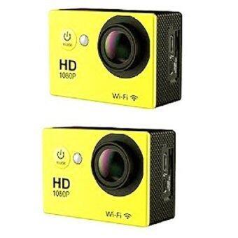 Perfect Like กล้องกันน้ำSport Camera wifi 2 Pcs ( สีเหลือง )