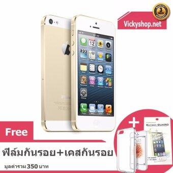 REFURBISHED Apple iPhone5 16 GB Gold ฟรี เคสกันรอยและฟิล์มกันรอย