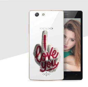 AFTERSHOCK TPU เคส OPPO Neo 5S เคสโทรศัพท์พิมพ์ลาย I Love you เนื้อบาง 0.33 mm