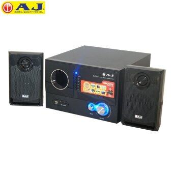 AJ ชุดลำโพง รุ่นW-236U กำลังขับ 1000W 2.1 Channel USB/SD Card (Black)