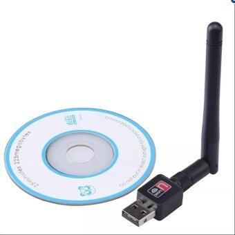 Wireless Mini USB WiFi 150Mbps Wireless Adapter 150M Computer LAN Card 802.11n/g/b with Network Card Antenna (Black) (image 4)