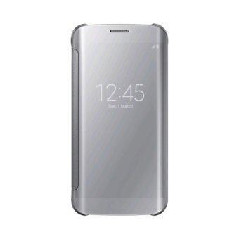ครอบกระจกใสดูเคสคับสำหรับ Samsung Galaxy S6 Edge โทรศัพท์มือถือกระเป๋าหนัง (เงิน)