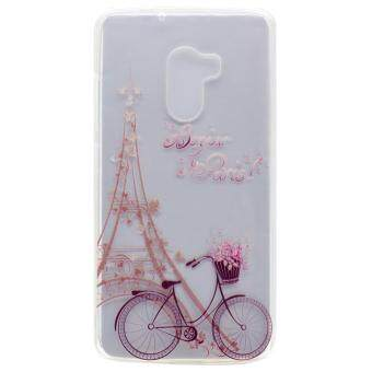 Harga For Lenovo Vibe K4 Note / A7010 / Vibe X3 Lite Patterned Flexible TPU Protective Case - Eiffel Tower and Bike - intl