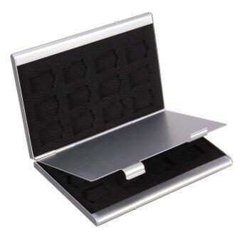 24ใน1 อลูมิเนียมและ EVA ไมโครเอสดีการ์ดหน่วยความจำ ถ้าเขาถือกล่องเก็บเคส