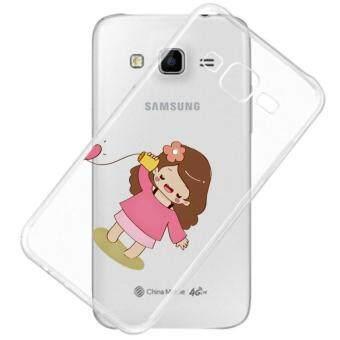AFTERSHOCK TPU Case Samsung Galaxy J2 2016 (เคสใสพิมพ์ลาย Hello Girl) / Thin 0.33 mm