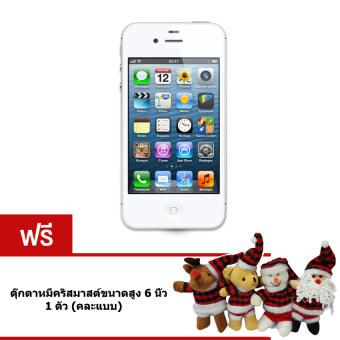 REFURBISHED Apple iPhone4S 16 GB (White) Free ตุ๊กตาหมีคริสมาสต์