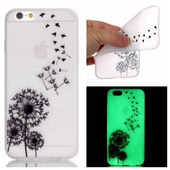 เคส for Apple iPhone 6 / Apple iPhone 6S 4.7 inch Phone Shell Case Cover ซิลิโคน ข้างหลัง Effect ออกแสง - Dandelion