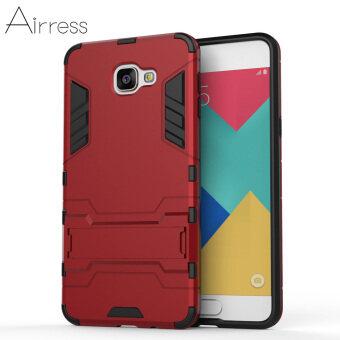 Airress TPU/PC 2ใน1 ชุดเกราะกำบังสำหรับทหารเกรดโทรศัพท์เคสขรุขระ Samsung Galaxy A9 โปร (2559) (สีแดง)