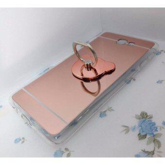 Case Fashion เคสสำหรับ samsung Galaxy J7 Prime สีทอง ตัวเคสทำจากพลาสติกขอบนิ่ม สามารถตั้งได้