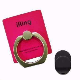 IRing แหวนยึดโทรศัพท์ พร้อม HOOK ตัวแขวนสำหรับติดตั้งในรถยนต์ (Rose Gold)