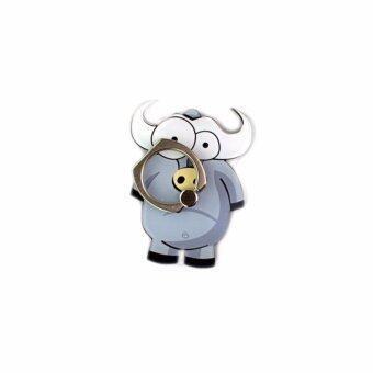 Phone Ring Holder Finger Grip Animal Series Cow For Cell Phone or Mobile Phone - intl (แหวนโทรศัพท์ / ผู้ถือโทรศัพท์ / อุปกรณ์เสริมโทรศัพท์)