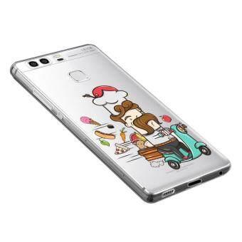 AFTERSHOCK TPU Case Huawei P9 (เคสใสพิมพ์ลาย Chef) / Thin 0.33 mm