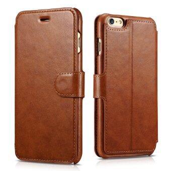 iPhone 6/6s เคส [กระเป๋าสตางค์แบบ Classic] [แม่เหล็กการปิด] ปกหนัง pu ป้องกันแผ่นพลิกคดี ในตัวเคสกระเป๋าสตางค์ [3 ที่เก็บบัตรและ 1 ช่องเงินสด] กับบูธสำหรับ Apple iPhone 6/6s 11.94ซม (สีน้ำตาล)